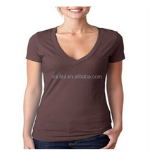 Short sleeve deep v neck t shirts for women
