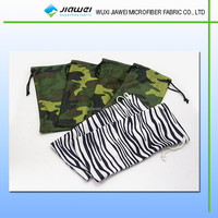 2015 micro fiber drawstring logo fabric printing and pouches