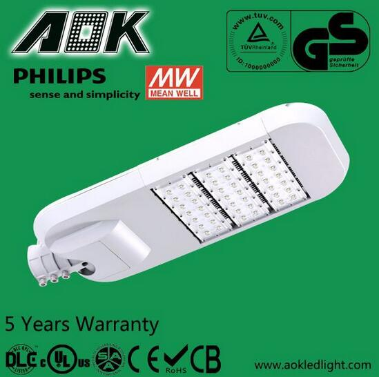 DLC High Power Waterproof parking lot light solar led street Area light Exterior Outdoor Public Light Fixtures