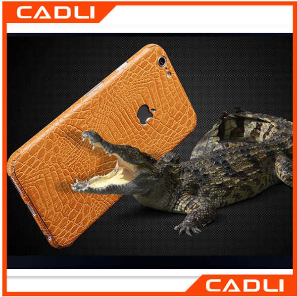 Ultra thin Crocodile Pattern Leather 360 Full Body Cover Front Back Film Sticker Skin Phone Case For Apple iPhone 66s 6Plus 6sPl