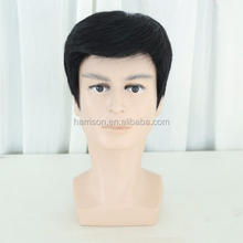 High Quality Full Lace Natural Color Human Hair Wig For Men