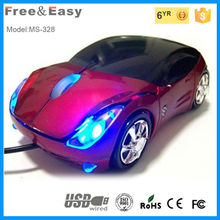 Kids sport car shape usb 3d optical mini wired mouse