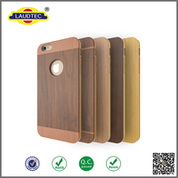 New Wood Pattern Cover+TPU frame case for iPhone 6
