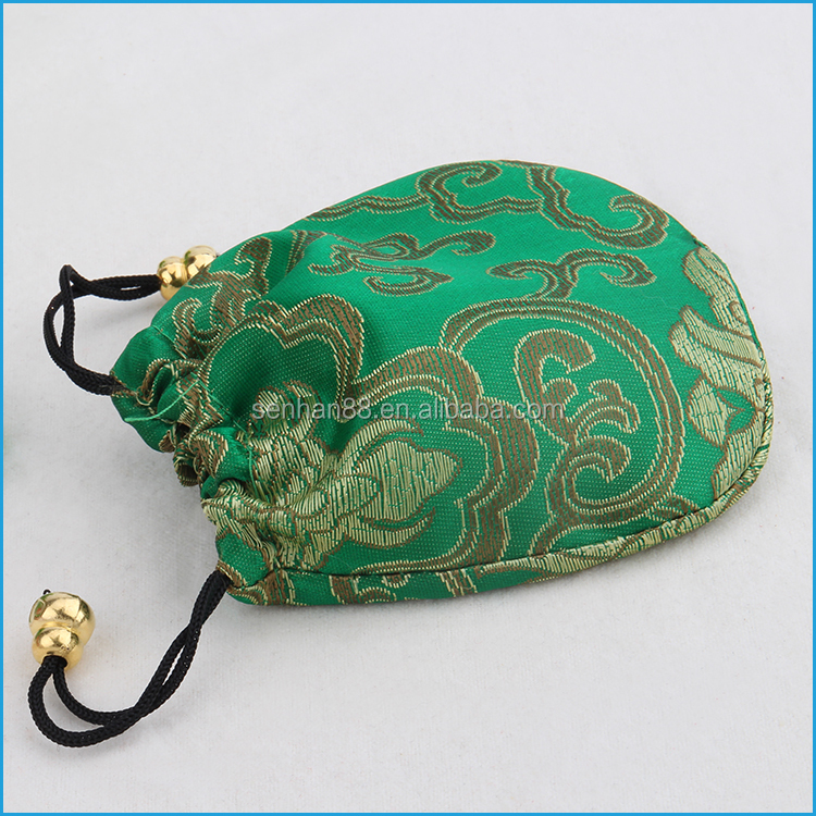 small drawstring jewelry pouches purple polyester bags fabric for jewelry