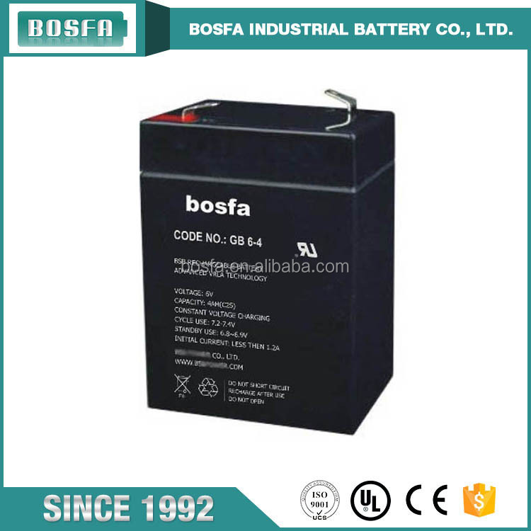 GB6-4 rechargeable sealed lead acid battery 6 volt UPS battery lead plates rechargeable sealed lead acid storage battery