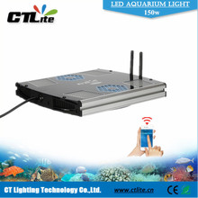 Aluminium Housing diy led reef lighting kits 150W Intelligent Marine Aquarium LED Lighting