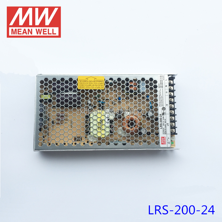 Meanwell Switch Power Supply 24V 200W 8.5A LRS-200-24