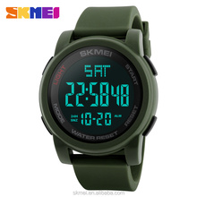 hot new fashion product men watches army digital hand clock waterproof silicone relojes chinos skmei 1257