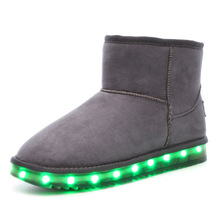 New Design Shoes With Led Plush Child Led Rechargeable Snow Boots