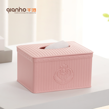 New design cheap table napkin holder packaging case kitchen bathroom facial container plastic empty mini tissue box