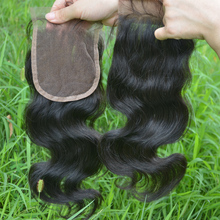 Wholesale human hair lace front closure body wave Brazilian virgin hair bundles with top closure 4*4 HD lace closure