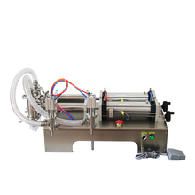 YTK-G2WY Pneumatic Two heads liquid filling machine piston filler liquid