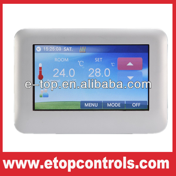 Color Touch Screen HVAC Room Thermostat