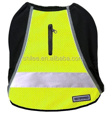 Flashing pet LED apprarel dog reflective high visibility vest running top jacket