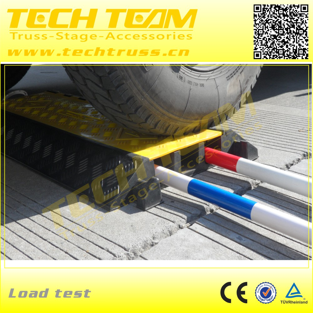 Rubber Traffic Roadway Cable Cross Protector