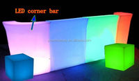 Luxury bar color changing LED table / light up furniture / outdoor bar counter