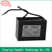 High Quality reasonable price Capacitor CBB61 2uf 450v cbb series