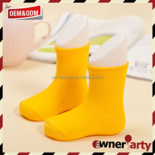 Pretty yellow Infant Baby cotton Socks Hand Wash Kid Socks For Girls And Boys
