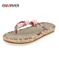 Best selling china custom personalized special material flower upper women beach slipper flip flops
