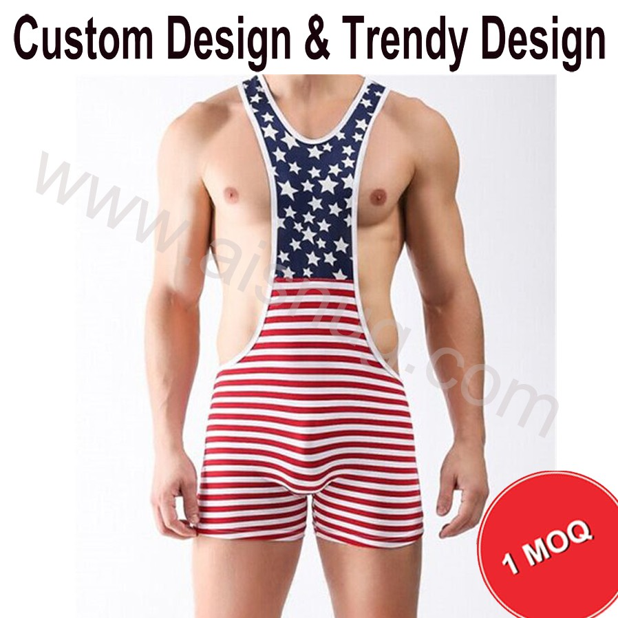 cheap 5XL custom Lycra wrestling singlet for sale