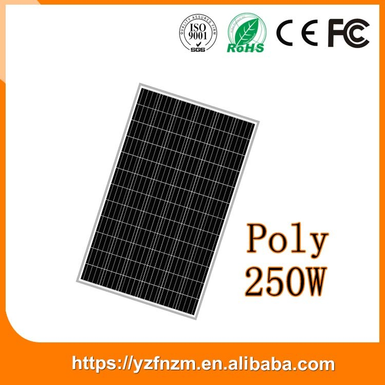 chinese photovoltaic panel 250w poly good quality cheap price, solar panel