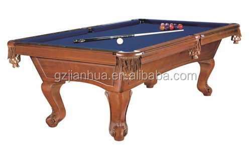 Low Price Hand Carving Solid Wood Pool Table