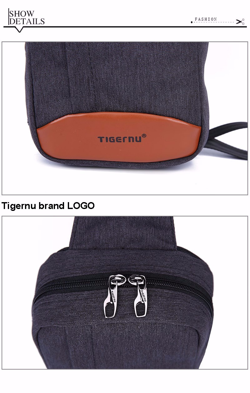 2017 Tigernu Men Functional Casual Military sling Business Briefcase Travel Chest bag Shoulder Bag For Women Crossbody Bag