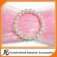 70mm pearl buckles for wedding chair sash buckle