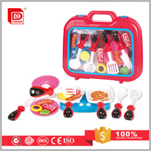 Hot selling children cooking suitcase toys kitchen set suitcase toys