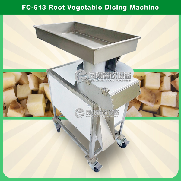 FC-613 carrot and potato Big cube cutter vegetable fruit cutting machine