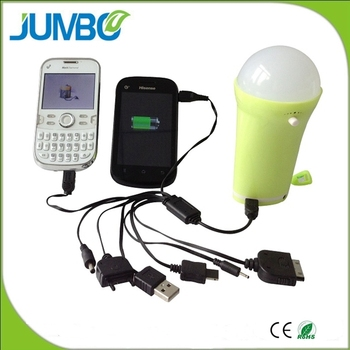 Portable solar lighting system with USB output