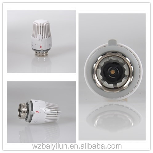 Electric cylindrical radiator valve cap thermostatic head