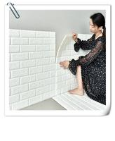 new Luxury home decoration brick wall paper 3d wall panel stickers