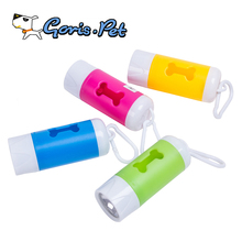 Colorful Bone Dog Poop Waste Bag Dispenser with LED Light