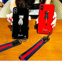 For iPhone X Handmade Dog Cover 3D Embroidery Animal Phone Case