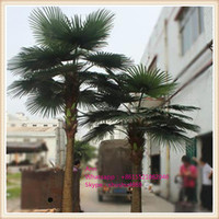SAS-T10012 hand make artificial palm tree mold fiberglass palm tree