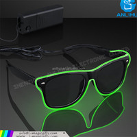 Dancing Party EL wire led glowing sunglasses in darkness