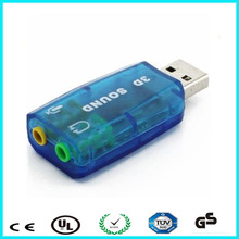 External USB 2.0 sound card 5.1 sound channel 3D sound card