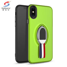SAIBORO Newest Design Two In One anti drop car magnetic mobile phone back cover case for iphone x ring holder case