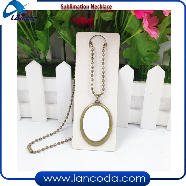 Lancoda NEW Sublimation printing Jewelry Pendant Necklace ear ring bracelet