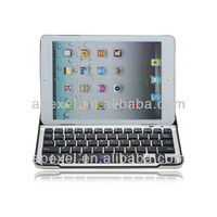 Mobile bluetooth keyboard for iPad mini,aluminum keyboard cover for ipad mini BK-24-2