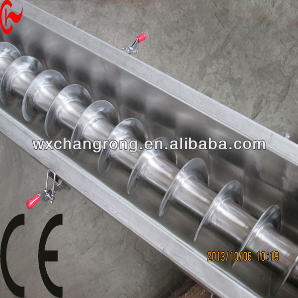 stainless steel food conveyor for line mashed potatoes