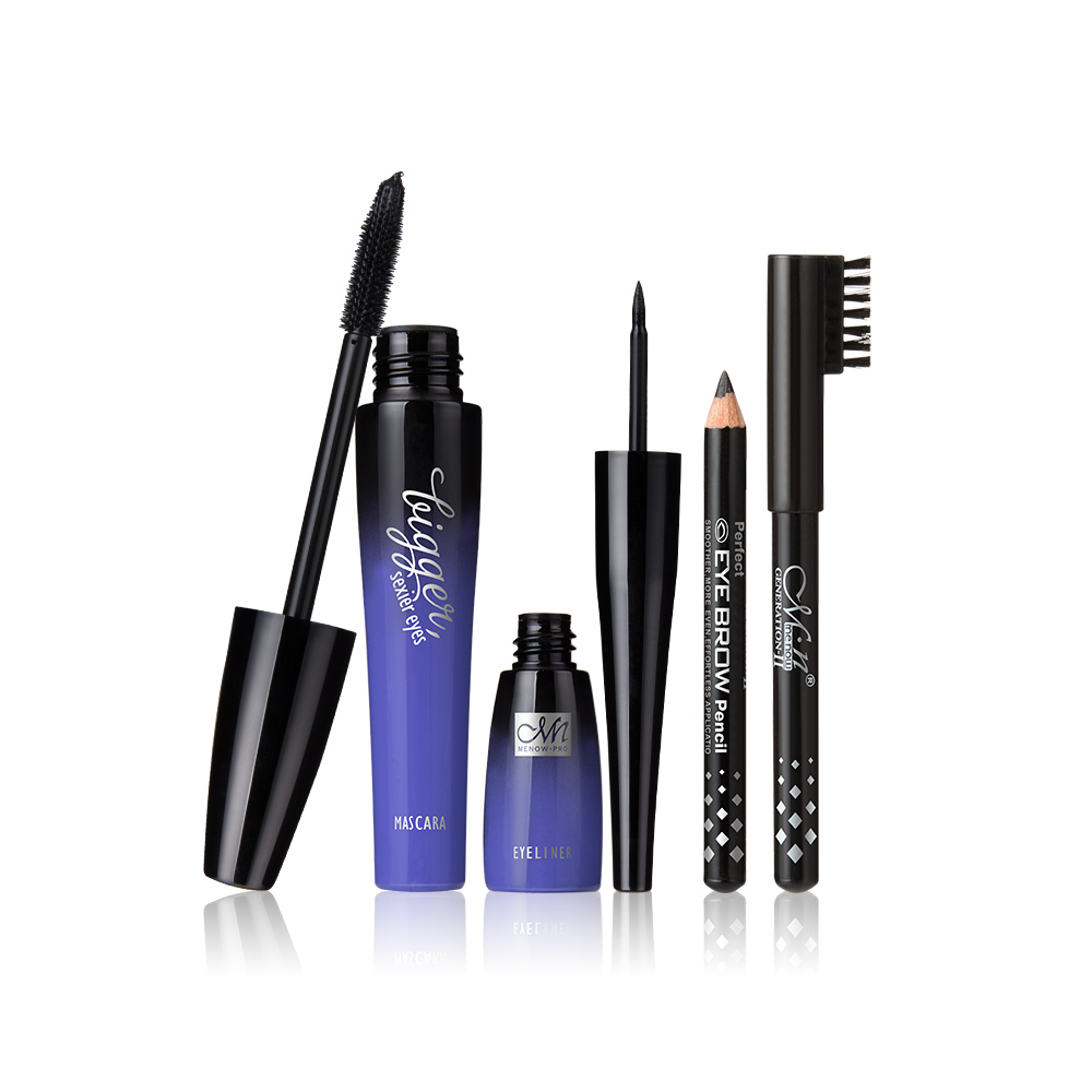 Menow Perfect Cosmetics K905 Mascara Liquid Eyeliner Eyebrow Pencil Eyes Makeup Kit