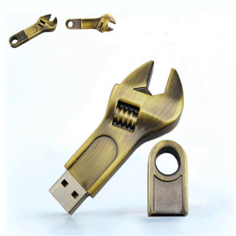 Low price metal wrench style 8GB USB flash drive, custom logo USB flash memory