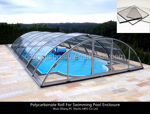 half-finished polycarbonate for telescopic swimming pool cover