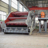 Linear vibrating screen for rock crushing plant