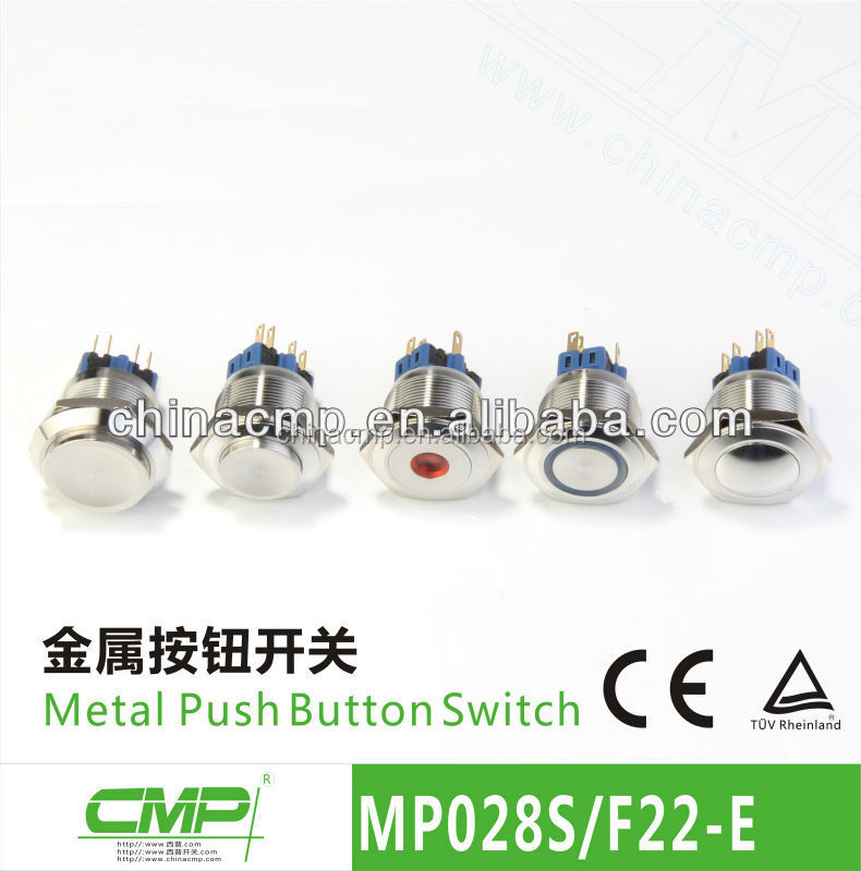 30mm Diameter LED Touch Light Metal Switch