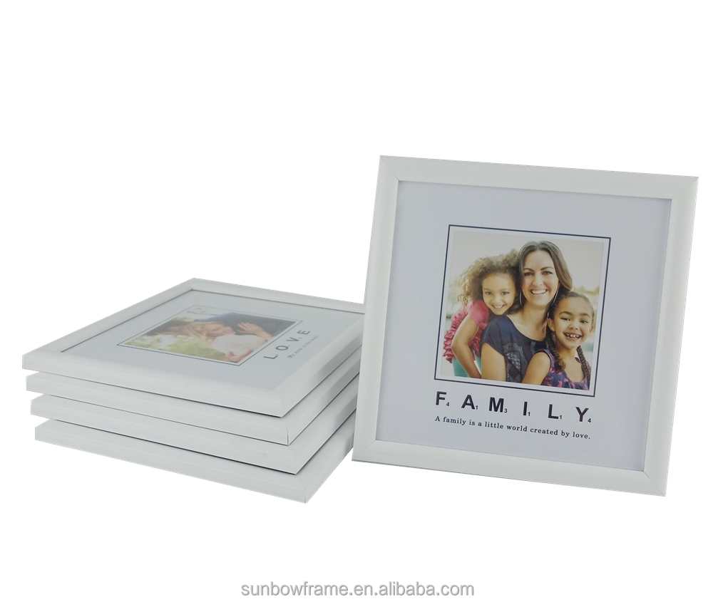 White matted mini plastic frame wholesale online family picture frame