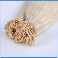 Top quality 7A most popular new arrival products on china market best quality light blonde u link hair