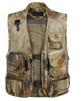 Summer Mesh Men Hunting Vest With Many Pockets Sleeveless Outdoor Photographer Vest for Male Clothes